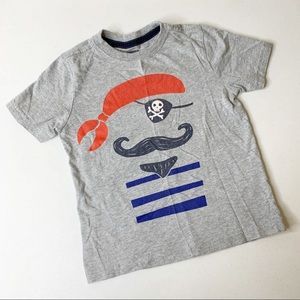 Gymboree Grey Pirate Graphic Short Sleeve Tee 4T